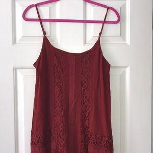 Jolt Burnt red Lace dress